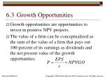 6 3 growth opportunities