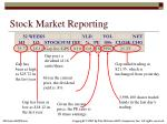 stock market reporting
