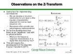 observations on the z transform