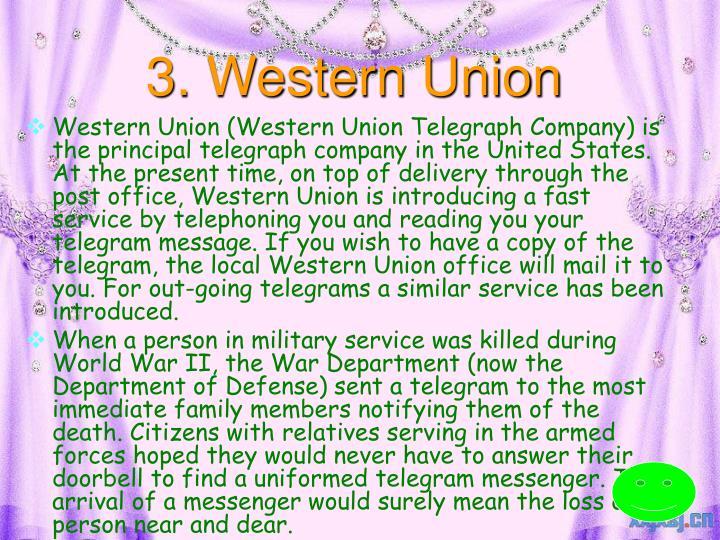 3. Western Union
