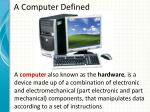 a computer defined