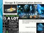 storage communication devices