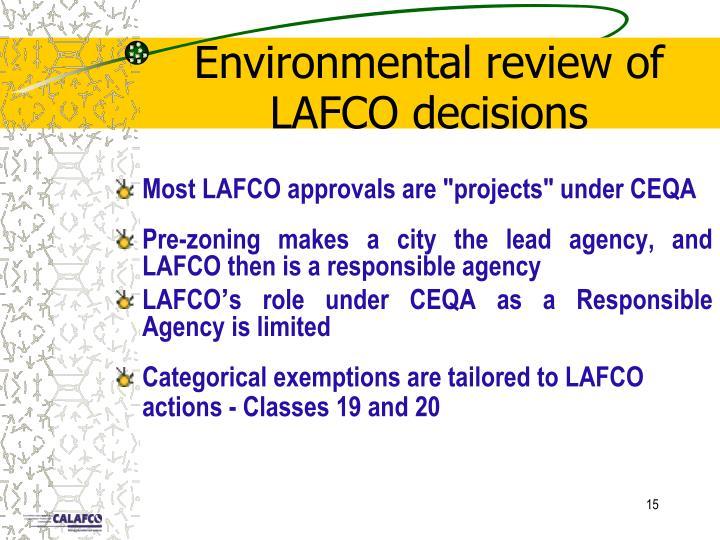 Environmental review of