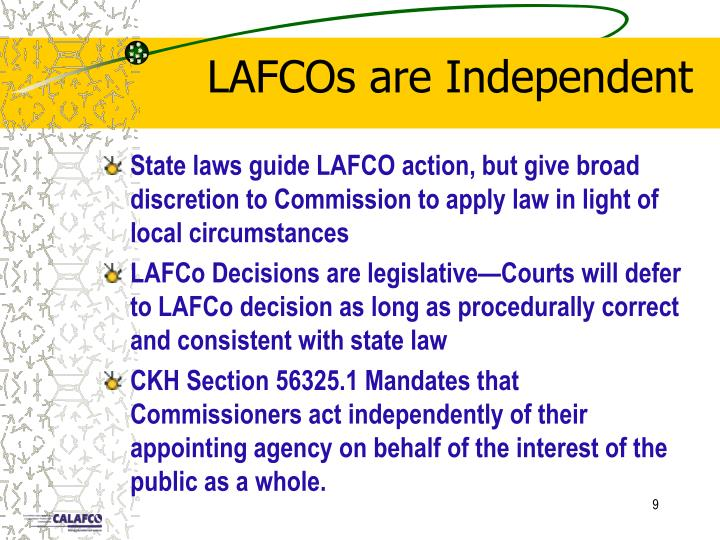 LAFCOs are Independent