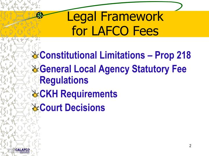 Legal framework for lafco fees