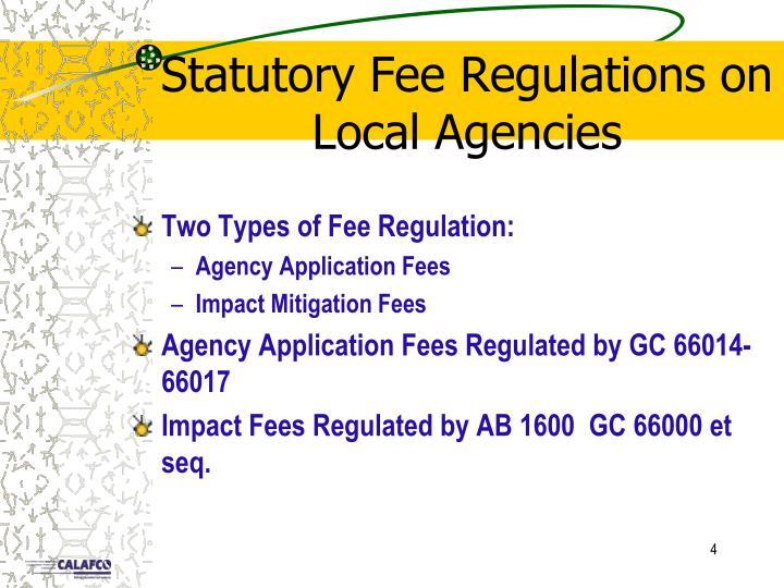 Statutory Fee Regulations on