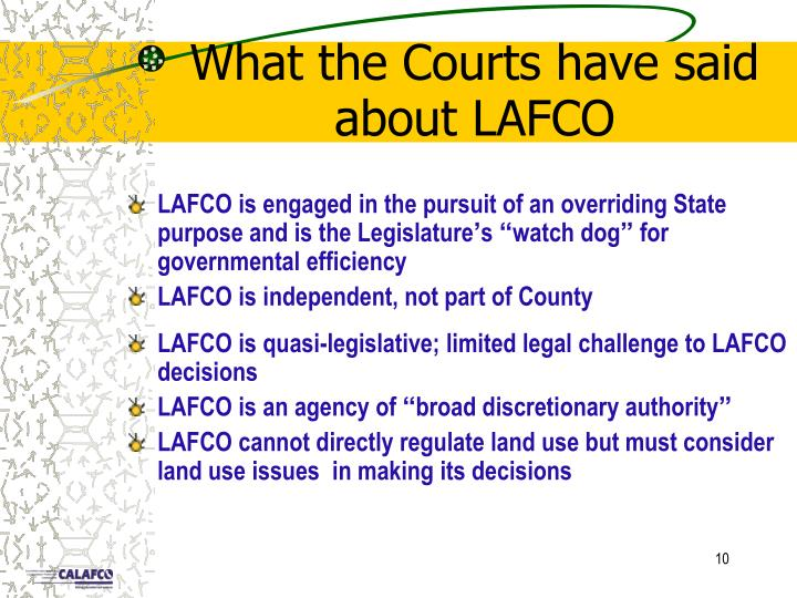 What the Courts have said about LAFCO