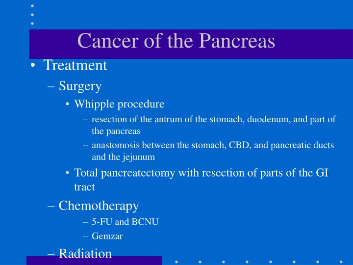 Cancer of the Pancreas