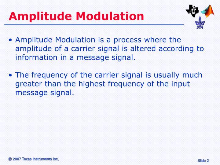 Amplitude modulation1