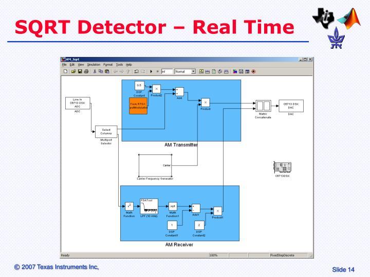 SQRT Detector – Real Time