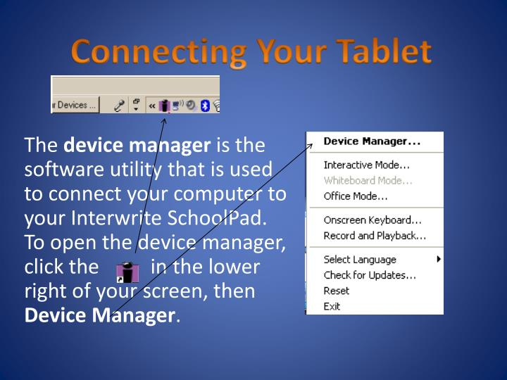 Connecting Your Tablet