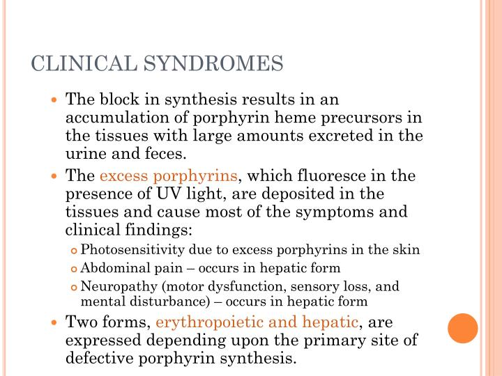 CLINICAL SYNDROMES
