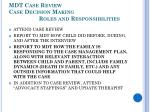 mdt case review case decision making roles and responsibilities