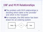 1nf and m m relationships1