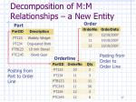 decomposition of m m relationships a new entity