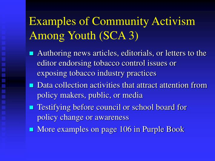 Examples of Community Activism Among Youth