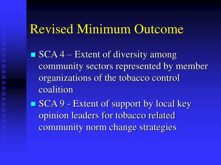 Revised Minimum Outcome