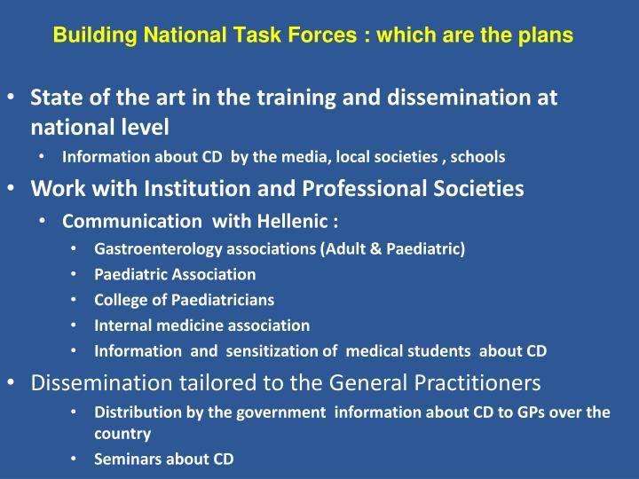 Building National Task Forces :