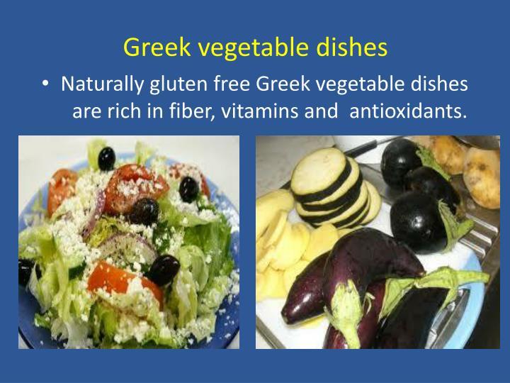 Greek vegetable dishes