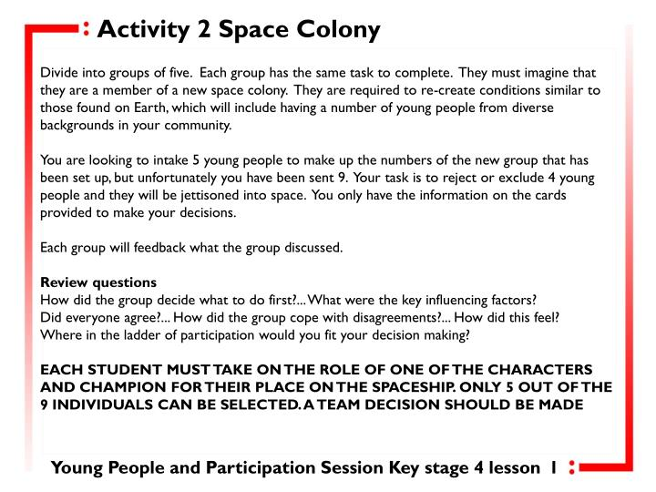 Activity 2 Space Colony
