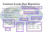 common locale data repository