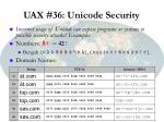 uax 36 unicode security