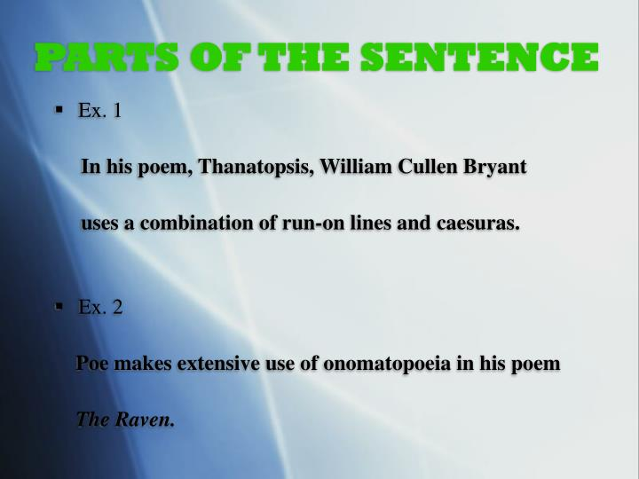 Parts of the sentence1