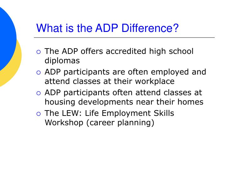 What is the ADP Difference?