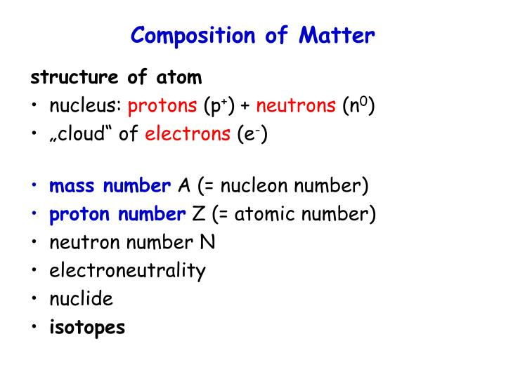 Composition of matter1