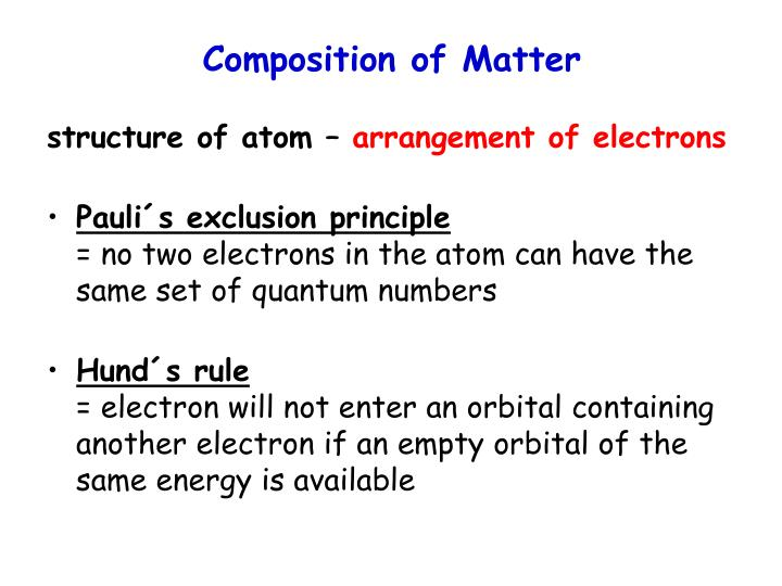 Composition of Matter