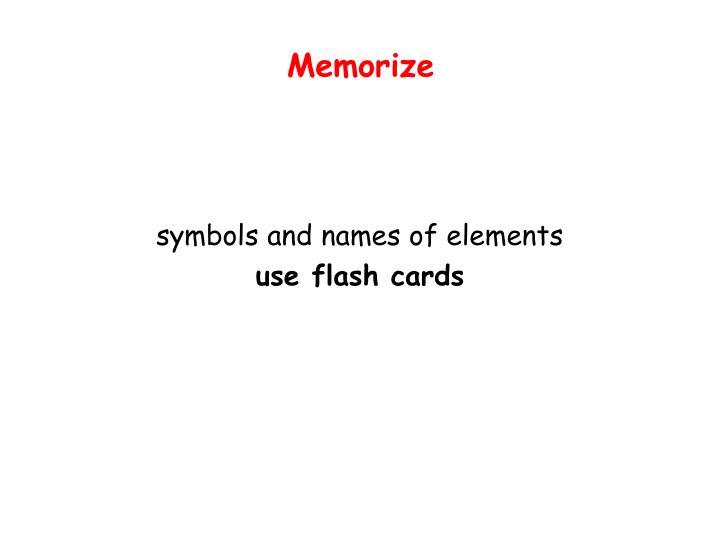 Memorize