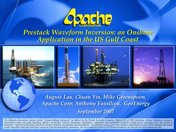 prestack waveform inversion an onshore application in the us gulf coast