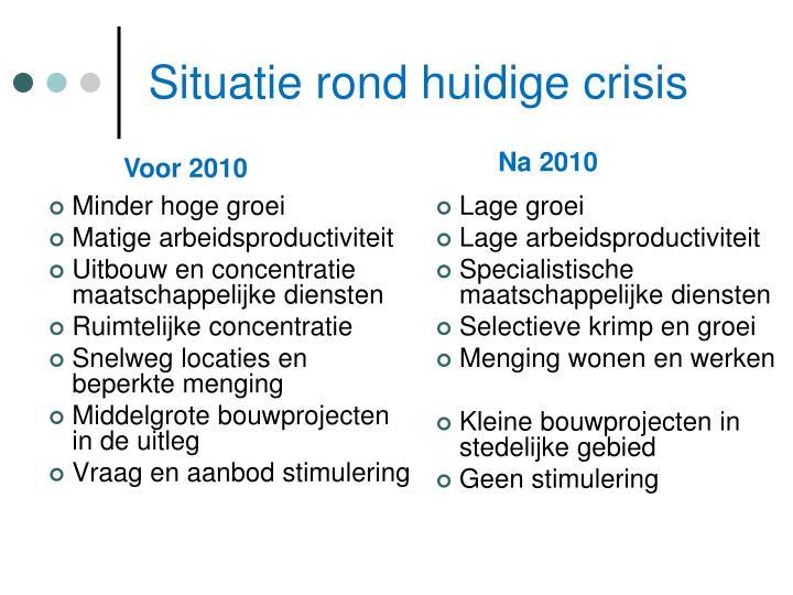 Situatie rond huidige crisis