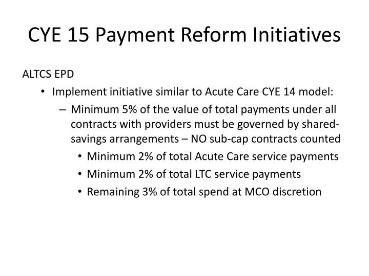Cye 15 payment reform initiatives1