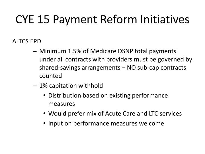 Cye 15 payment reform initiatives2