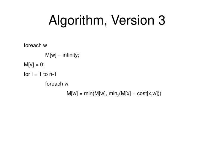 Algorithm, Version 3
