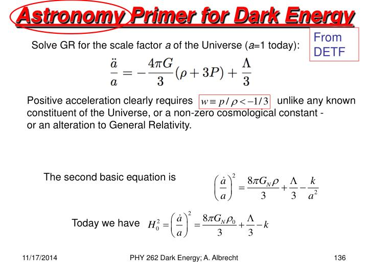 Astronomy Primer for Dark Energy
