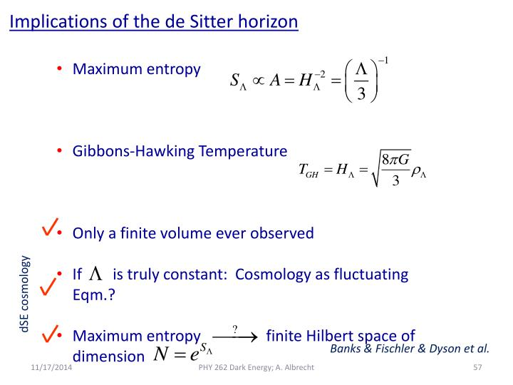 Implications of the de Sitter horizon