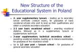 new structure of the educational system in poland2