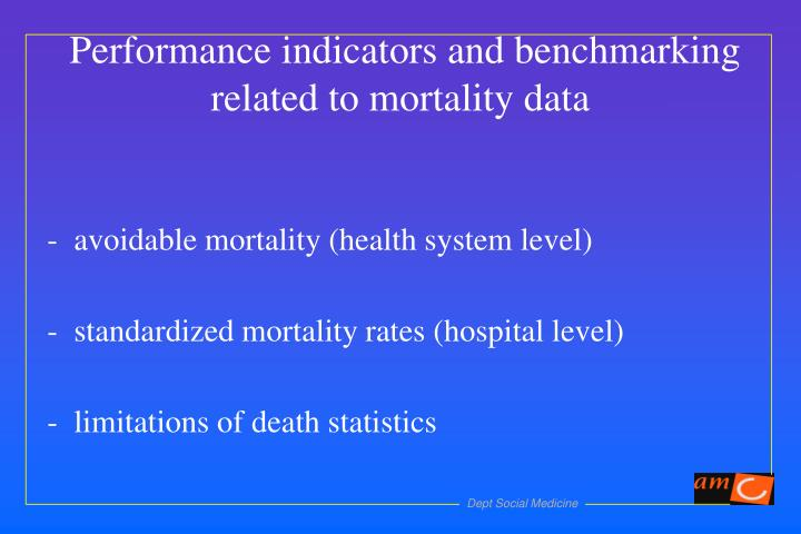 avoidable mortality (health system level)