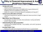 why is financial improvement audit readiness important