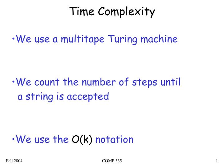 time complexity n.