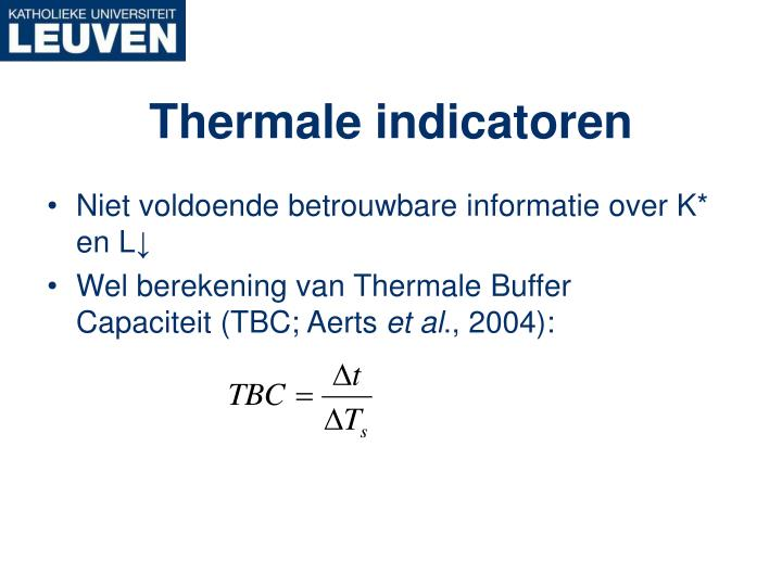 Thermale indicatoren