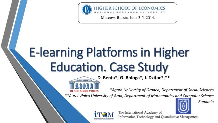 e learning platforms in higher education case study n.