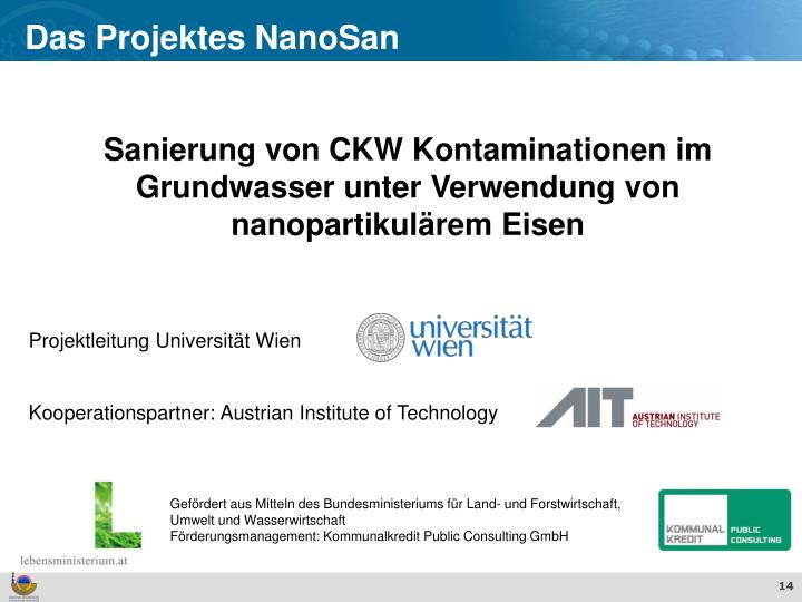 Das Projektes NanoSan