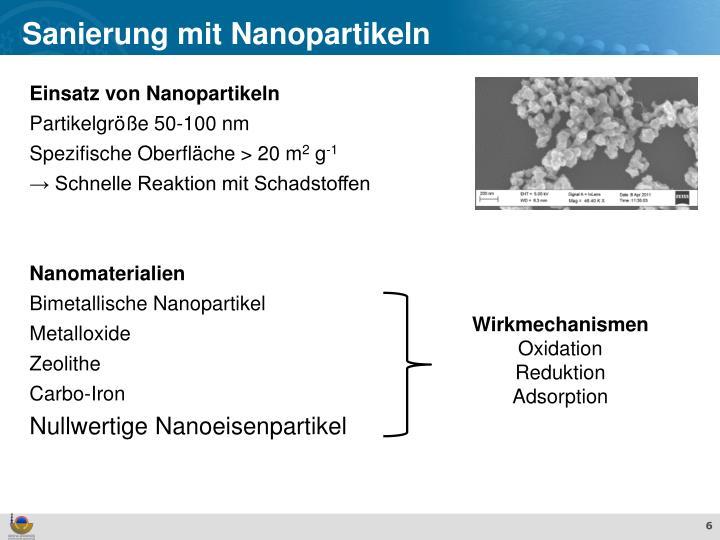 Sanierung mit Nanopartikeln