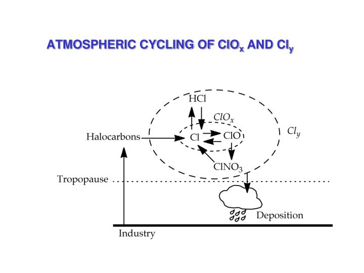 ATMOSPHERIC CYCLING OF ClO