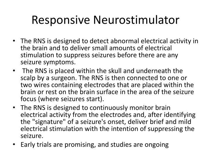 Responsive Neurostimulator