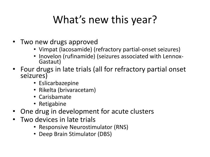 What's new this year?