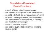 correlation consistent basis functions